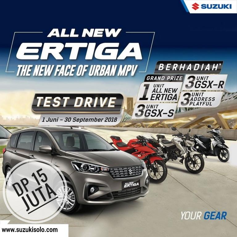 Promo Berhadiah, Test Drive Suzuki All New Ertiga Juni-September 2018